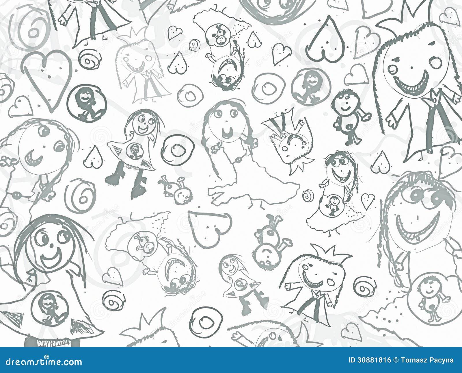Dziecko ołówek gryzmoli tło