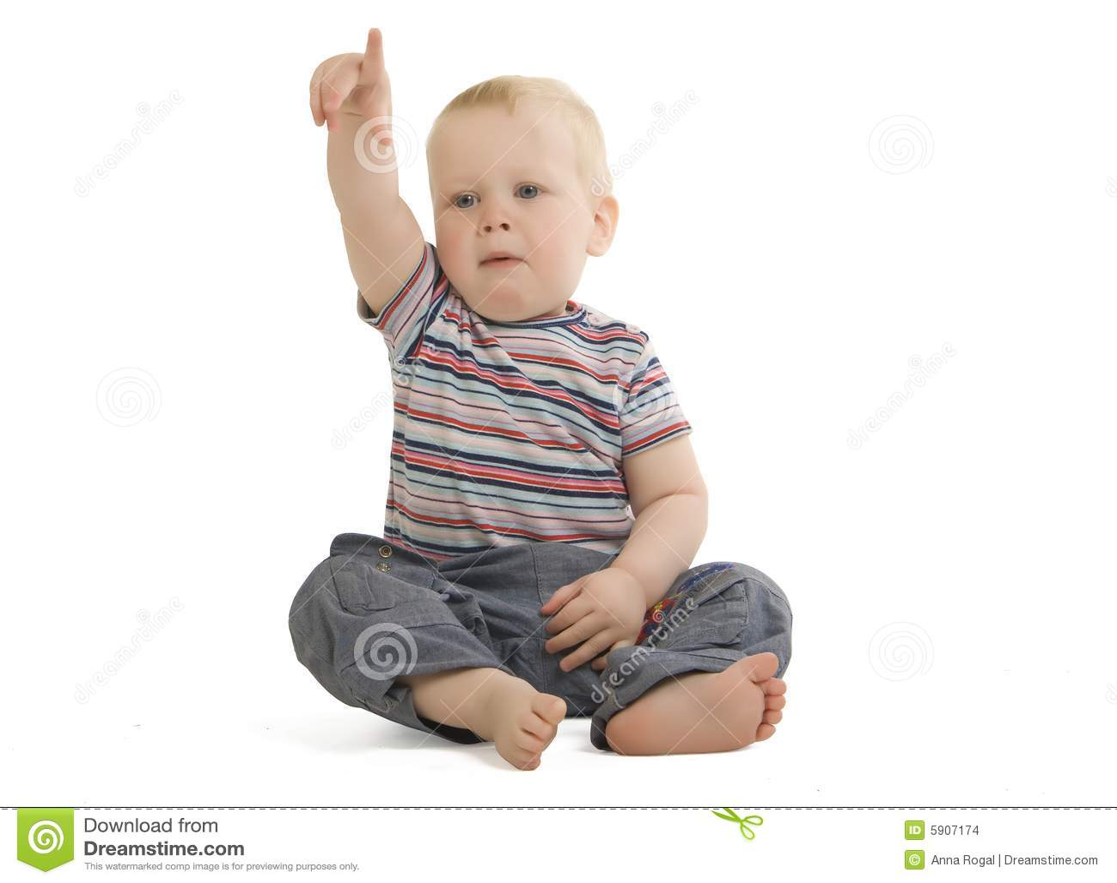 Dziecko podłogę posiedzenia