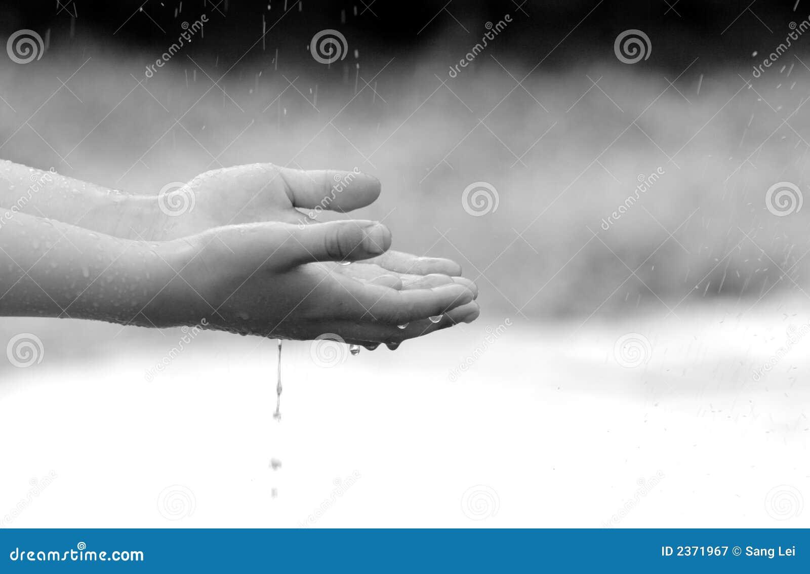 Dziecko ręce gospodarstwa wody