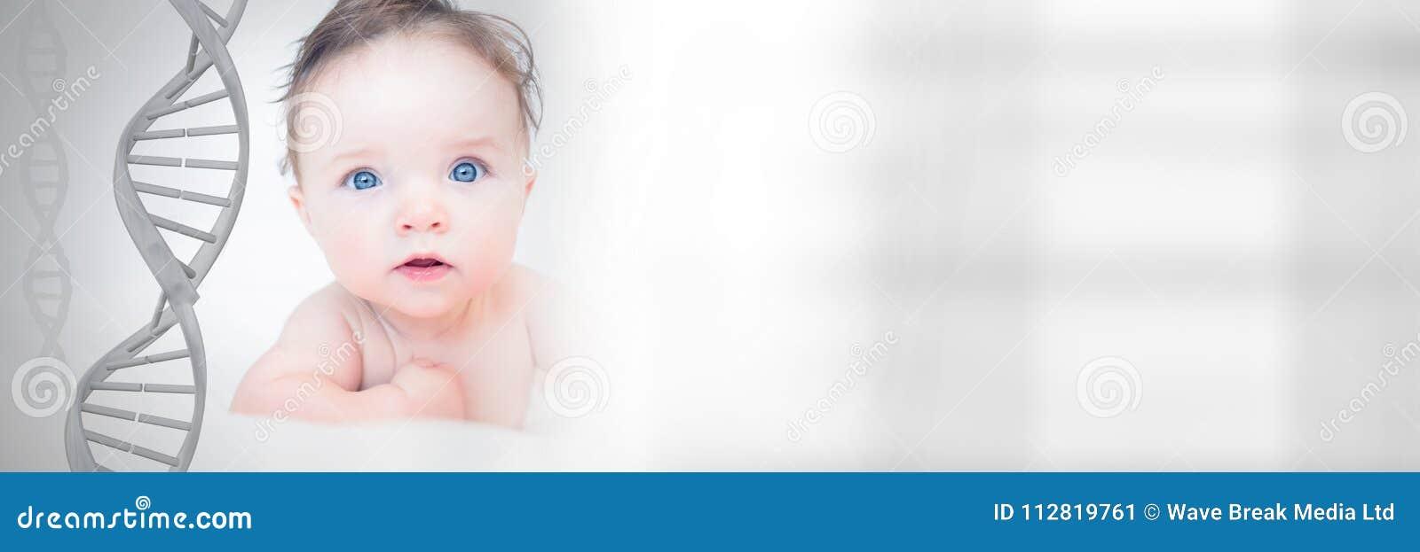 Dziecko z genetycznym DNA