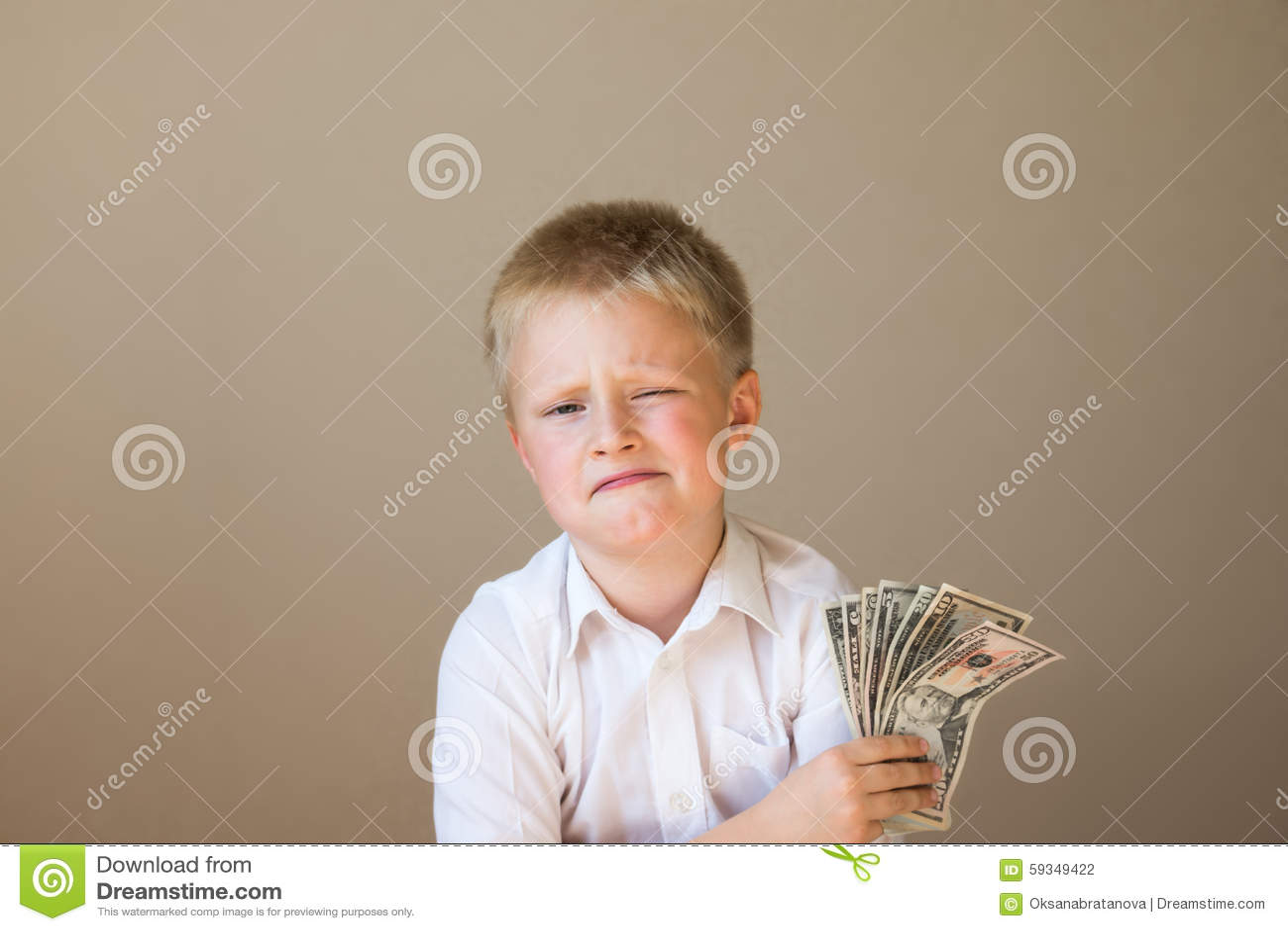 Dziecko z pieniądze (dolary)