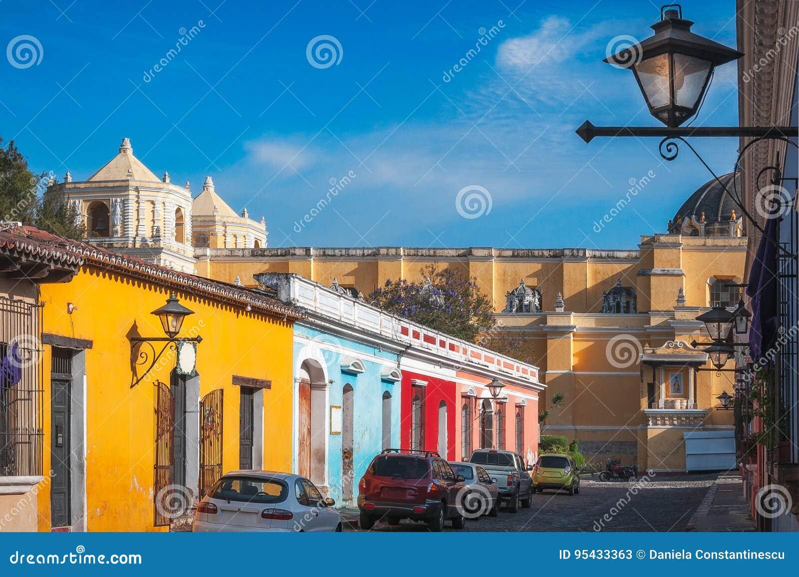 Dziedzictwo ulica w Antigua, Gwatemala