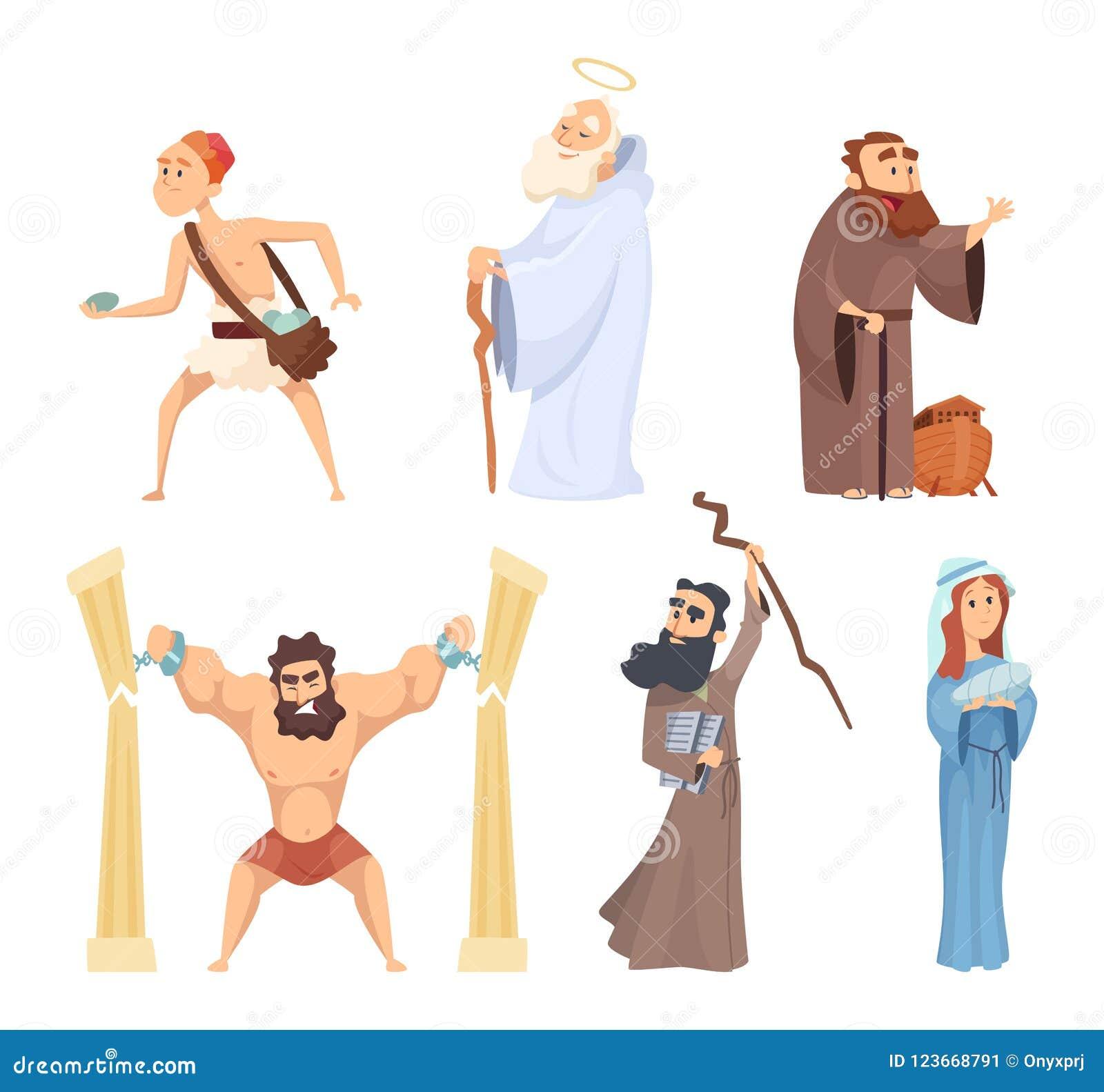 Dziejowe ilustracje chrześcijańscy charaktery święta biblia