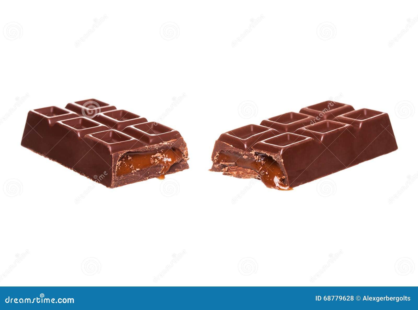 Dzielę w przyrodnim czekoladowym barze z dokrętkami odizolowywać na bielu