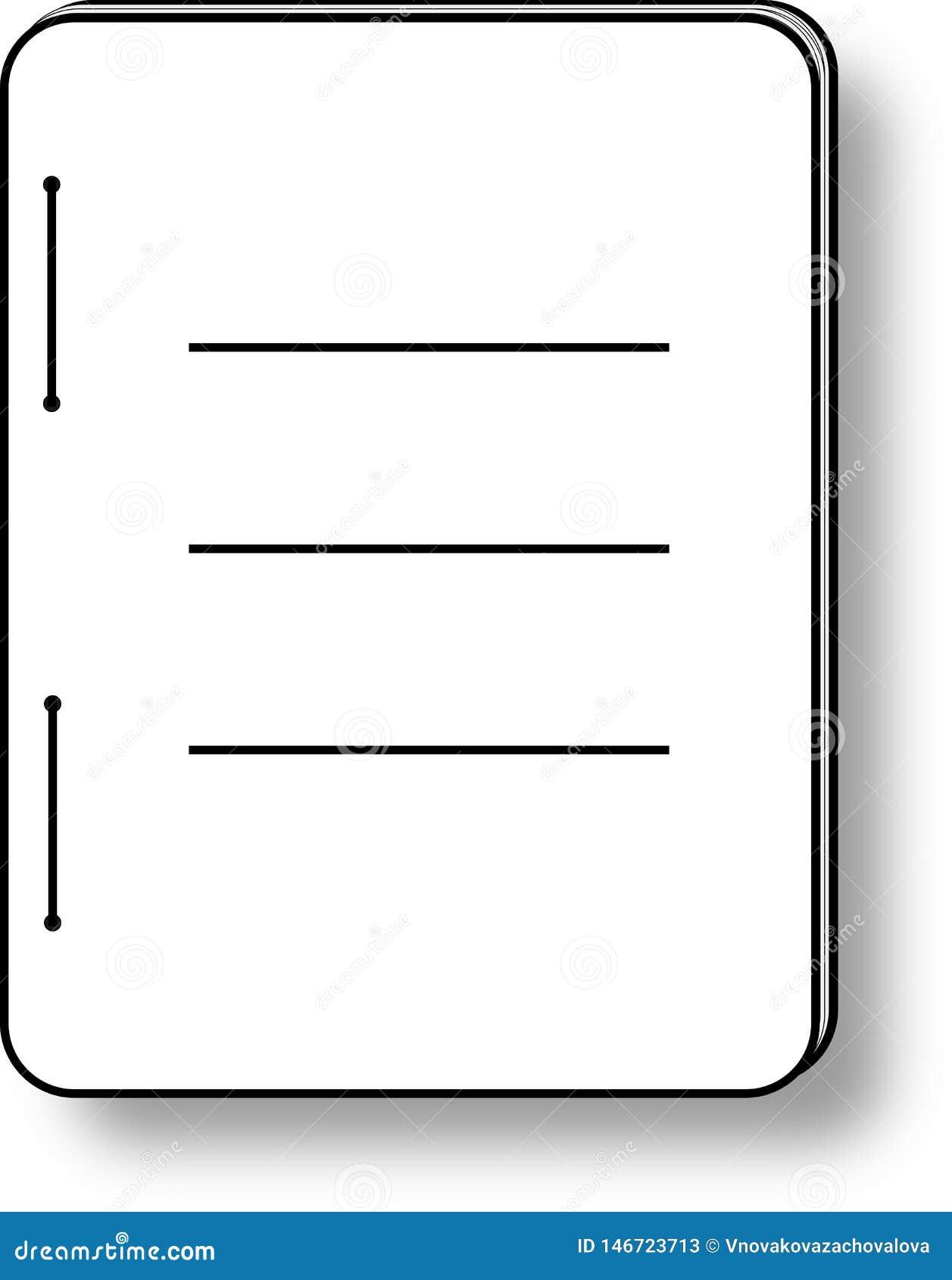 Dzienniczek etykietka lub ikona
