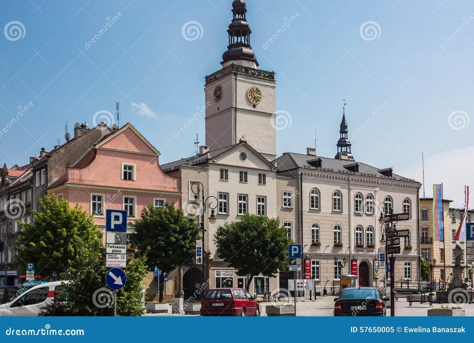 Dzierzoniow - miasto w południowo-zachodni Polska