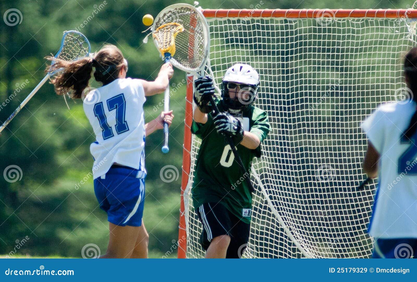 Dziewczyn wysoka lacrosse szkoła