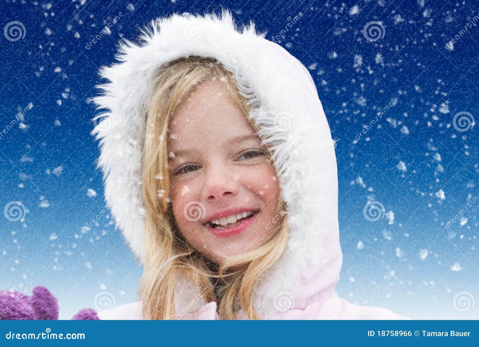 Dziewczyna śnieg