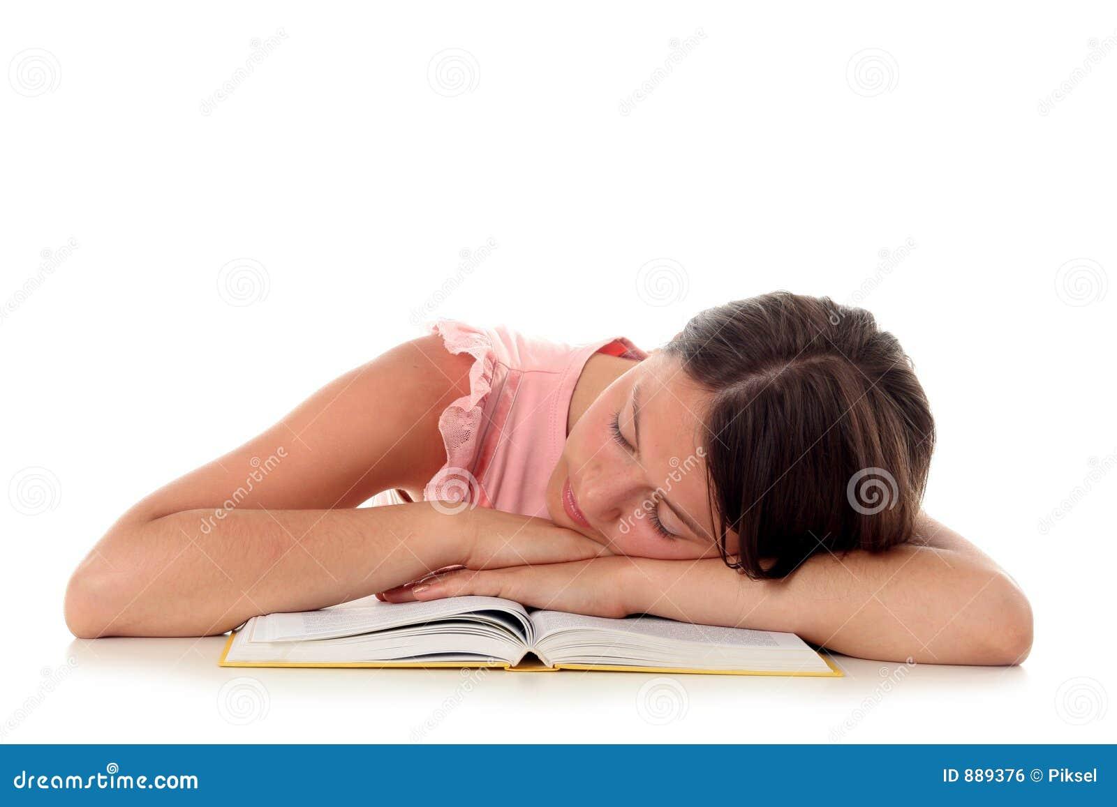 Dziewczyna śpi