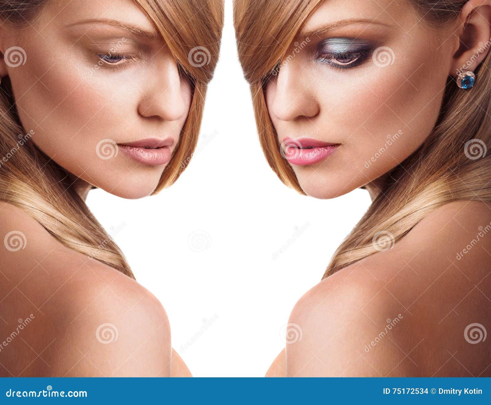 Dziewczyna bez makeup i z