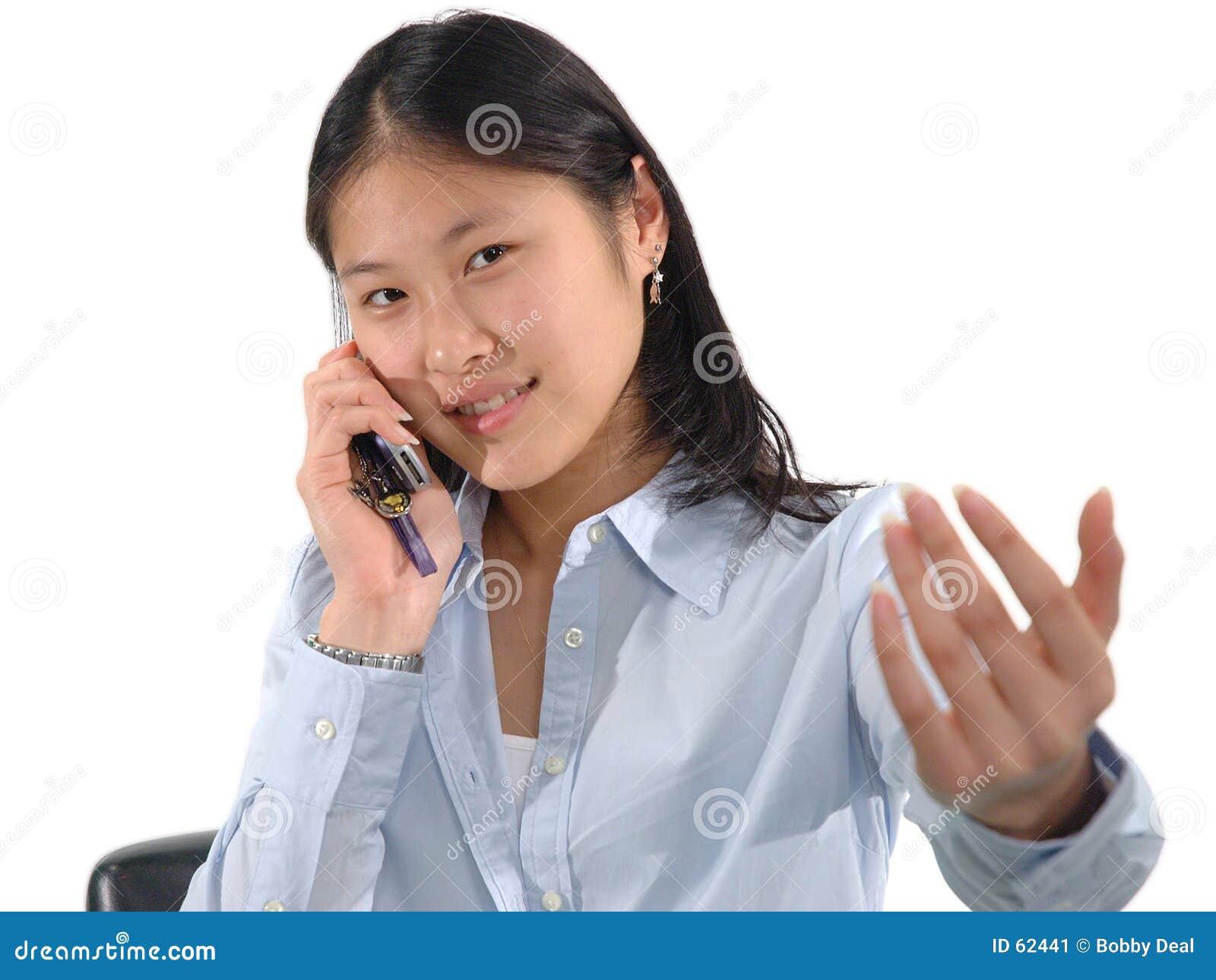 Dziewczyna celphone