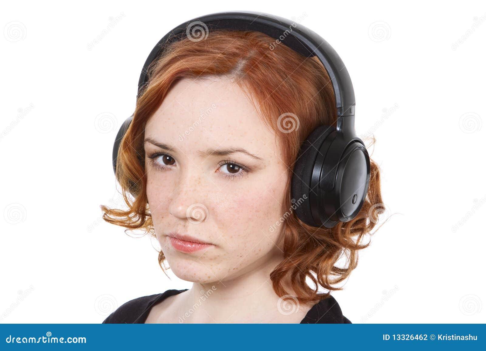 Dziewczyna hełmofony