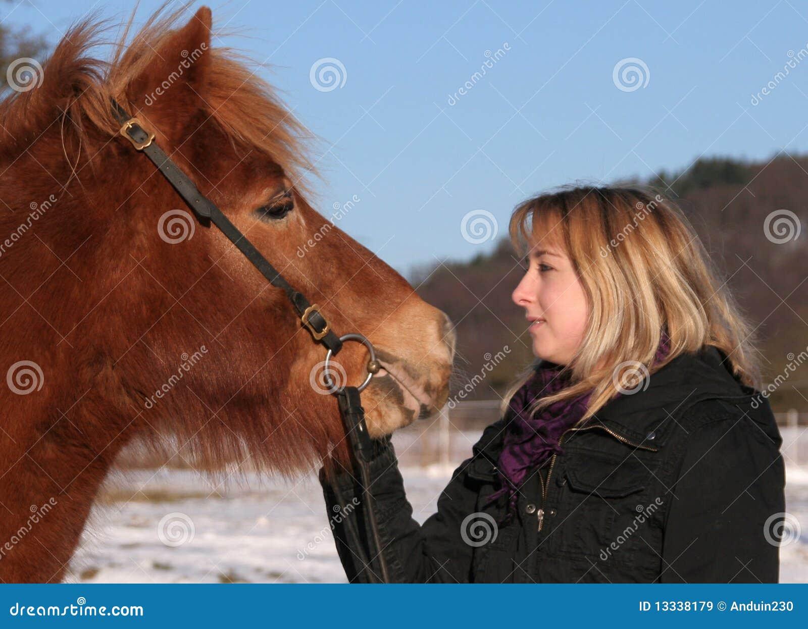 Dziewczyna jej koński ładny target1322_0_