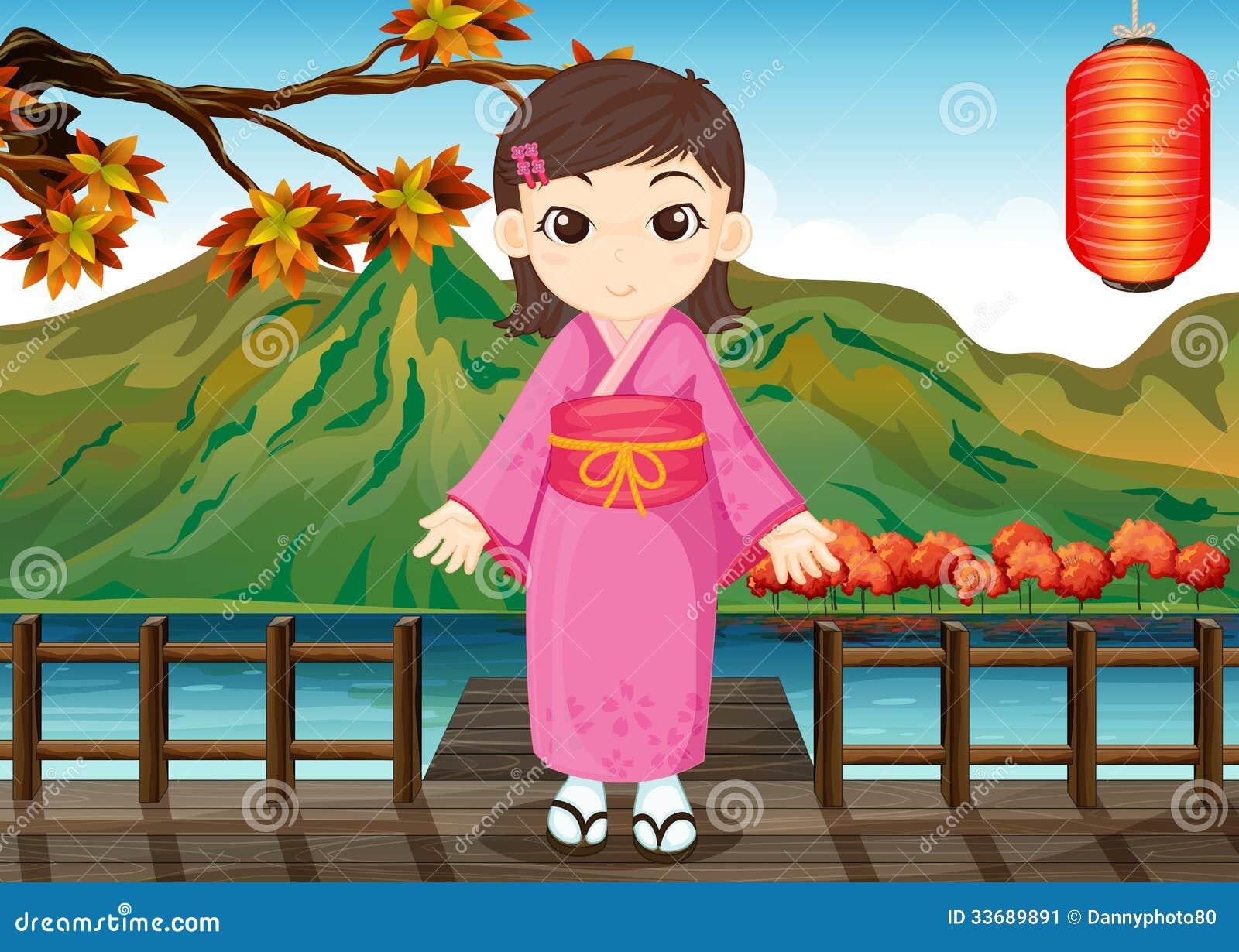 Dziewczyna jest ubranym chińską suknię
