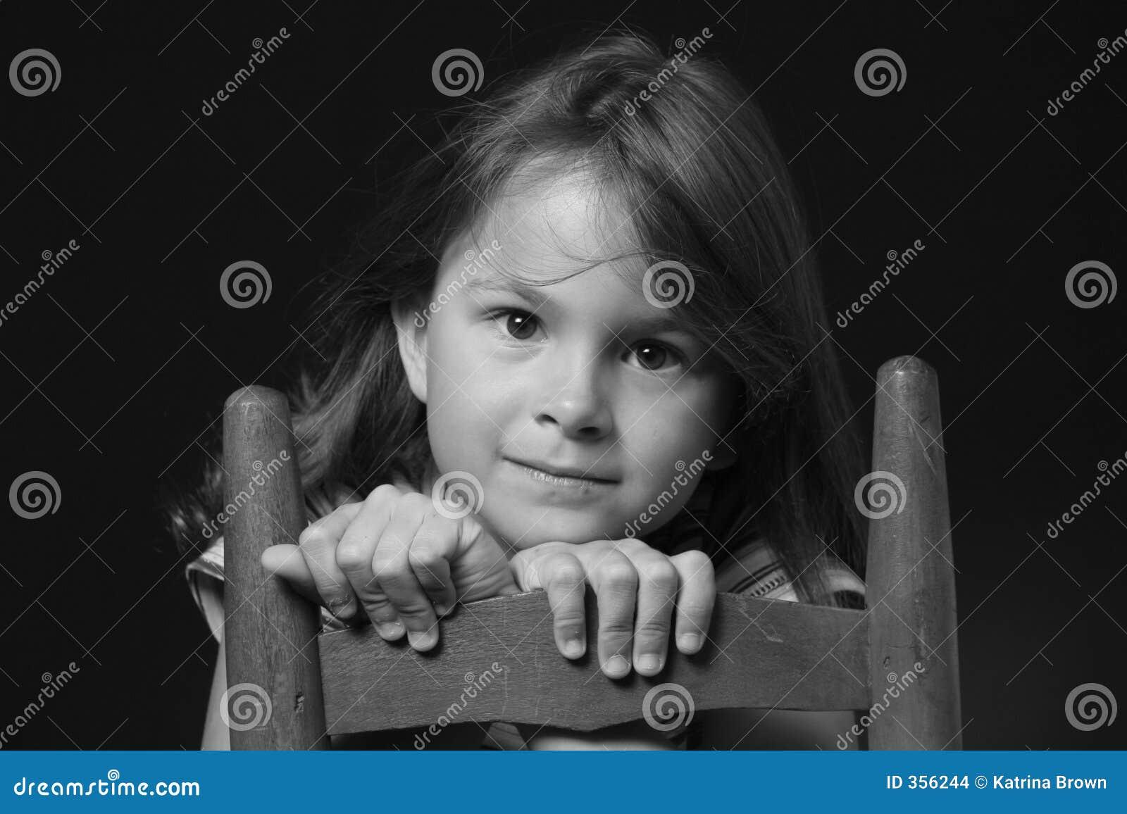 Dziewczyna monochromu young