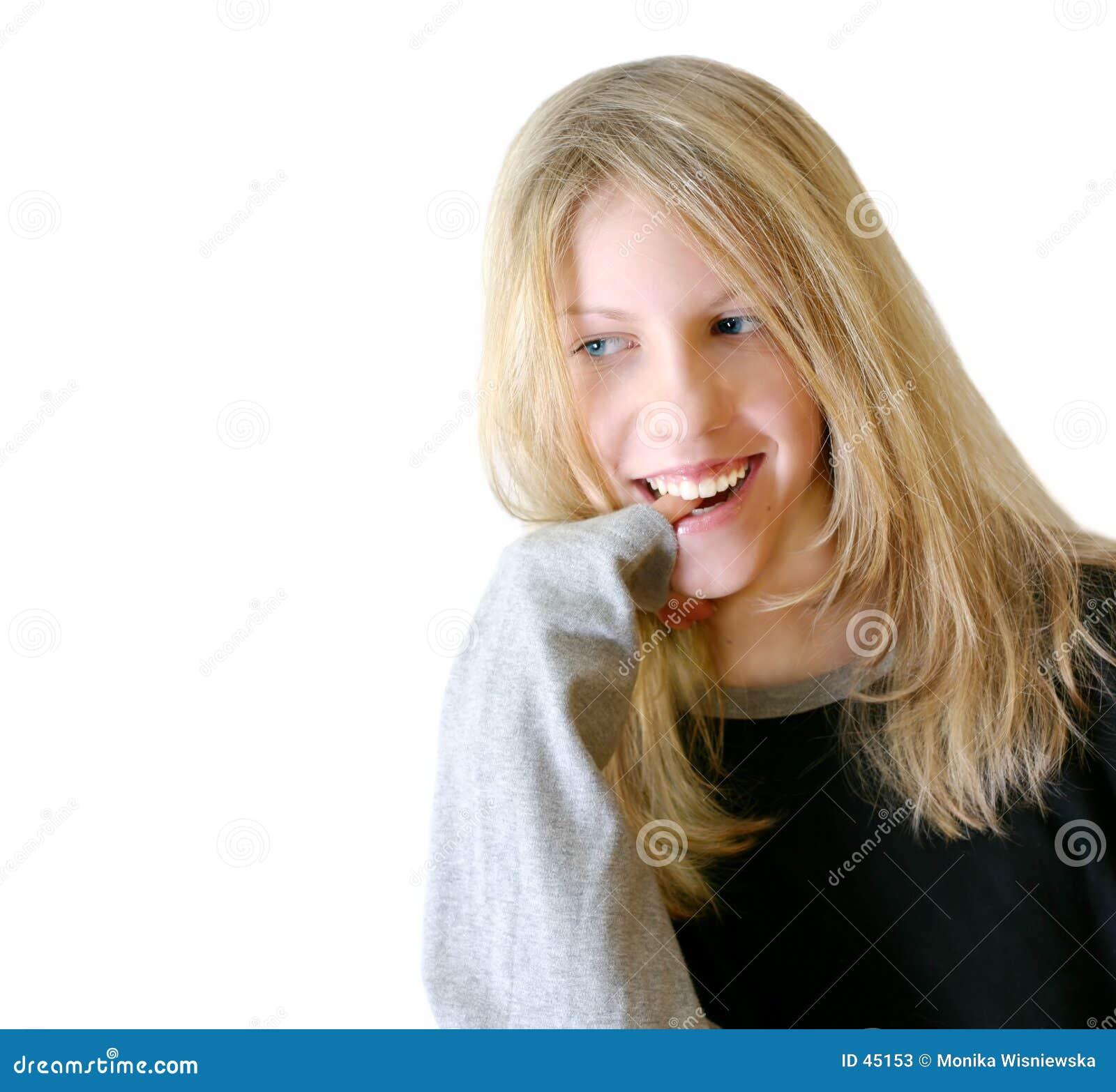 Dziewczyna pozytywnie