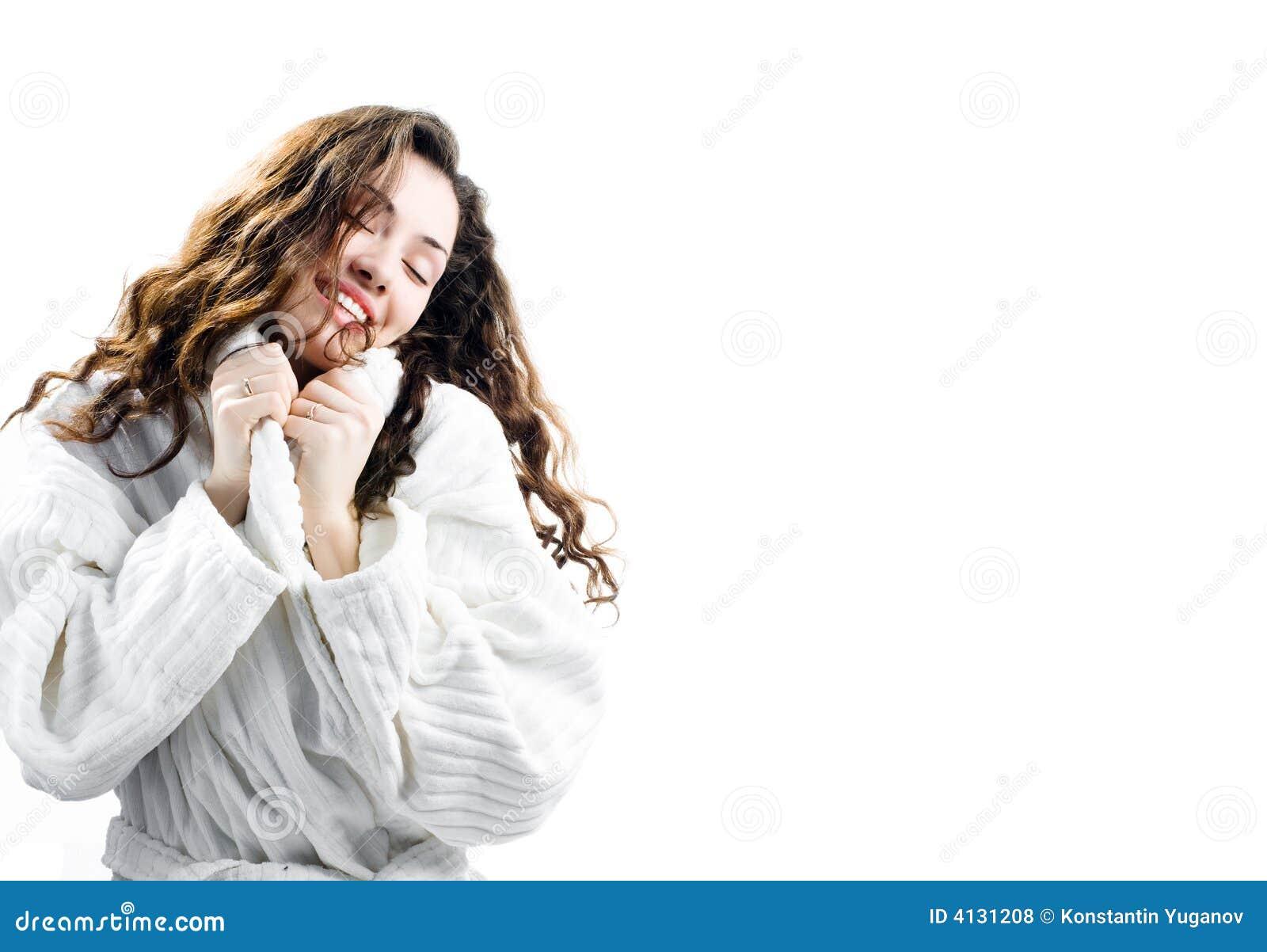 Dziewczyna szlafrok