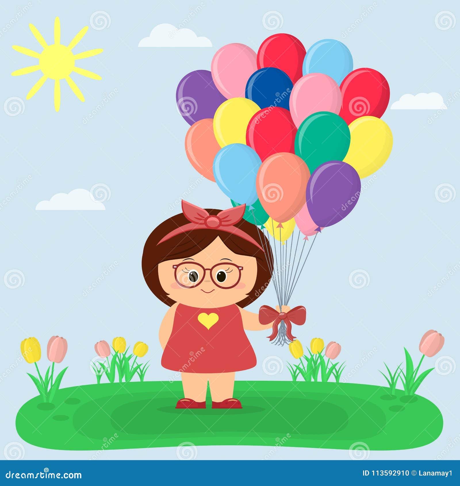 Dziewczyna w, halizna z tulipanami słońce, niebo, i