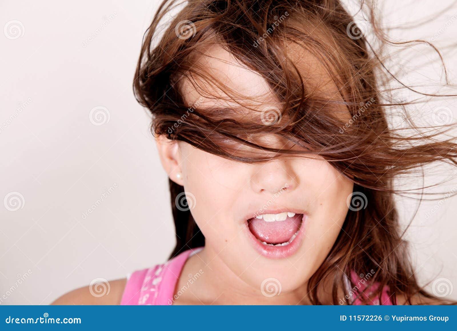 Dziewczyna wiatr