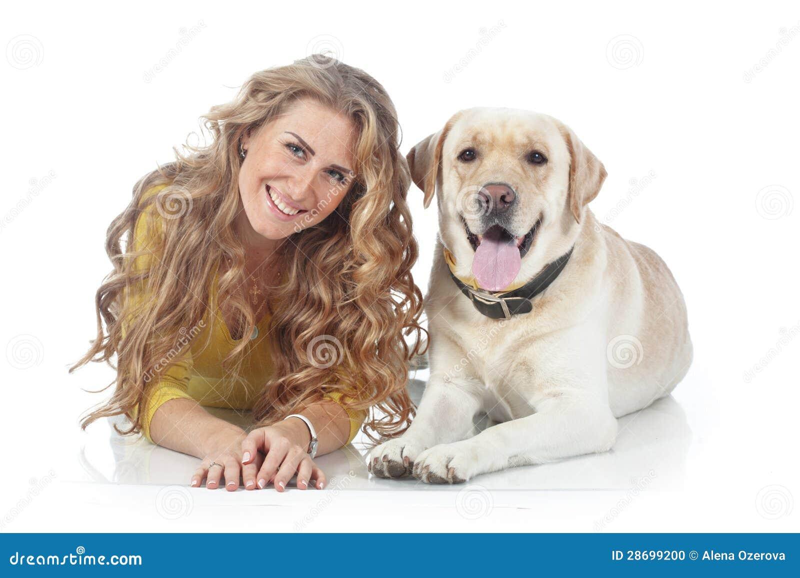 Dziewczyna z jej psem