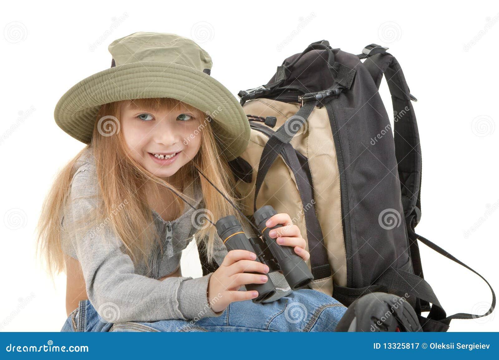 Dziewczynka turysta