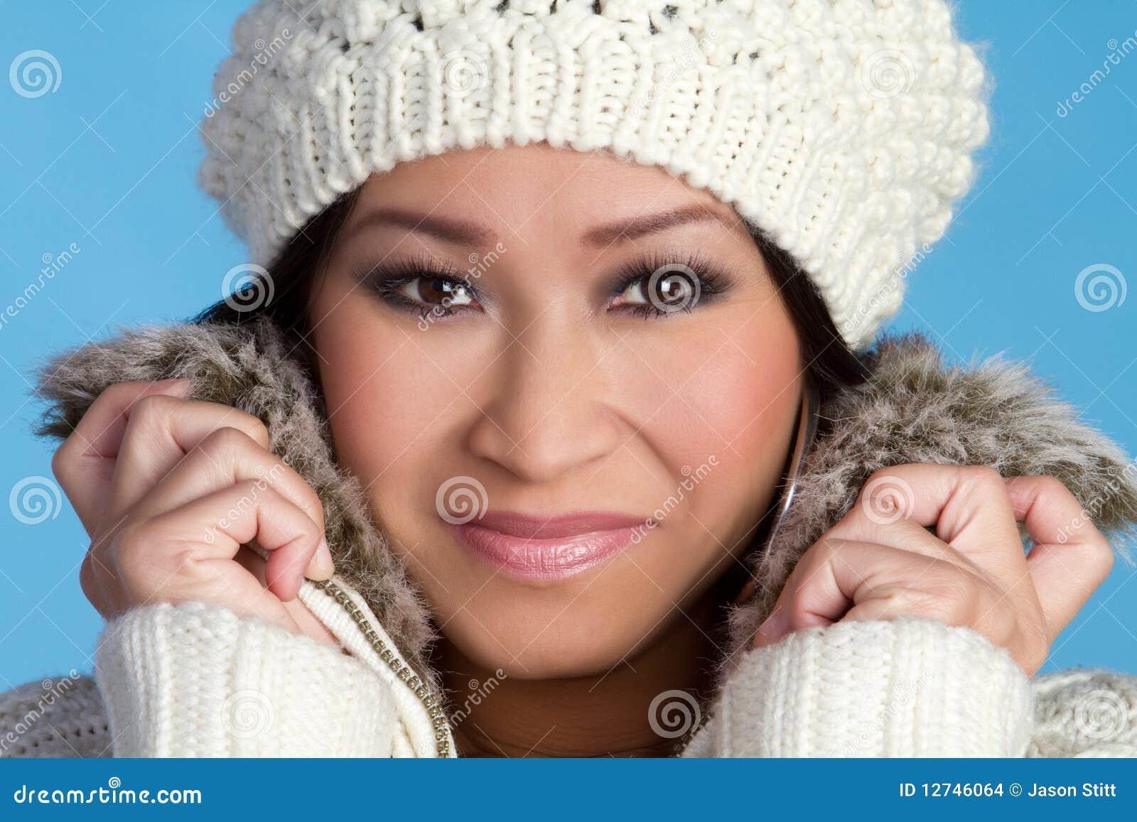Dziewczyny etniczna zima
