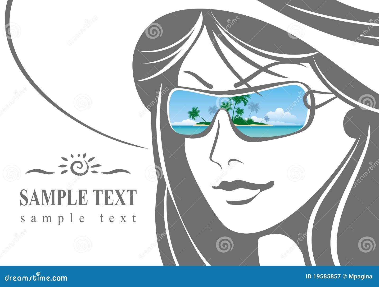 Dziewczyny kapeluszu okulary przeciwsłoneczne
