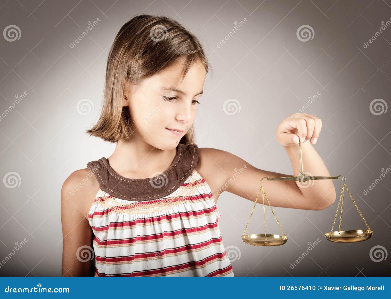 Dziewczyny mienia sprawiedliwości skala