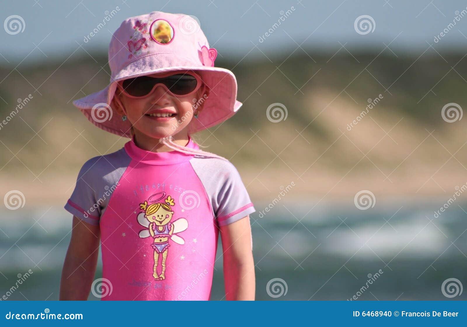 Dziewczyny plażowej mała stanowisko