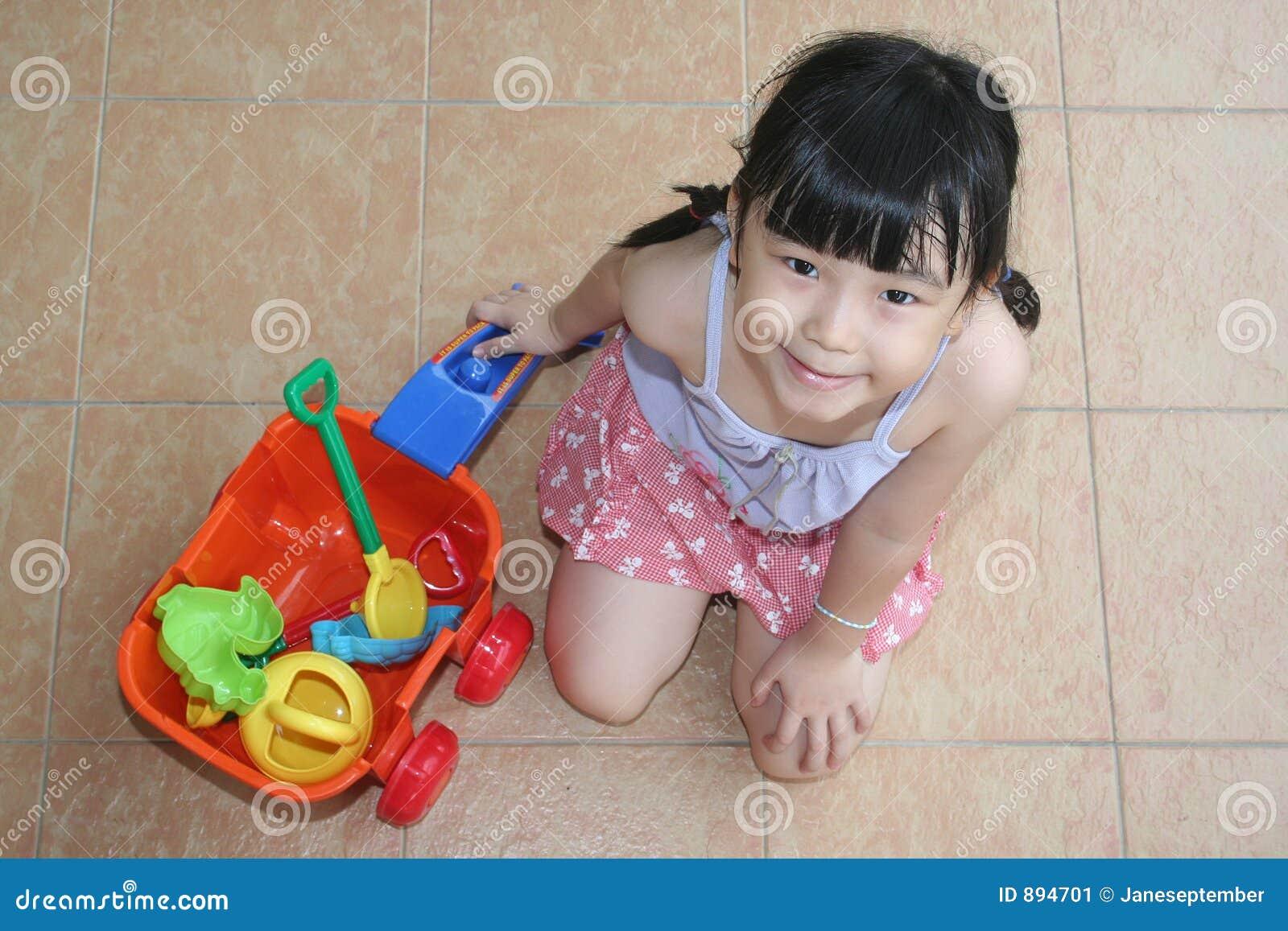 Dziewczyny playset plaży