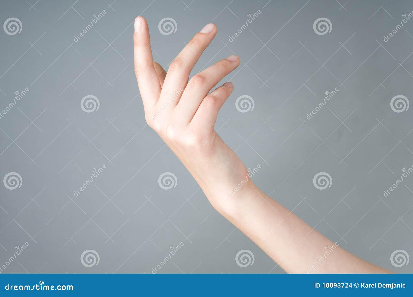 Dziewczyny ręka otwartego