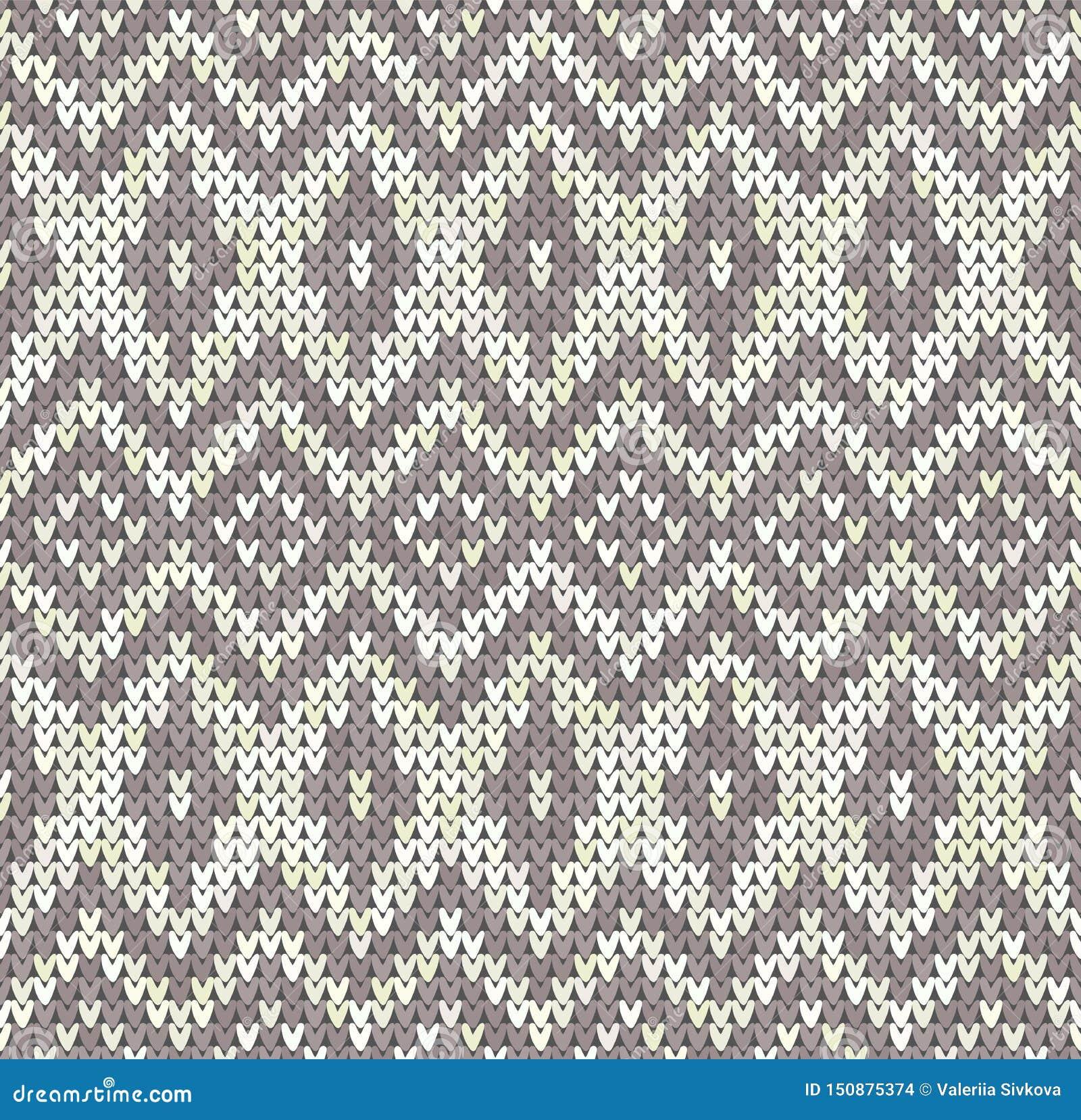 Dziewiarskiego klasycznego rocznika geometryczny wzór Trykotowy realistyczny etniczny bezszwowy tło, tekstura Wektorowy obywatel