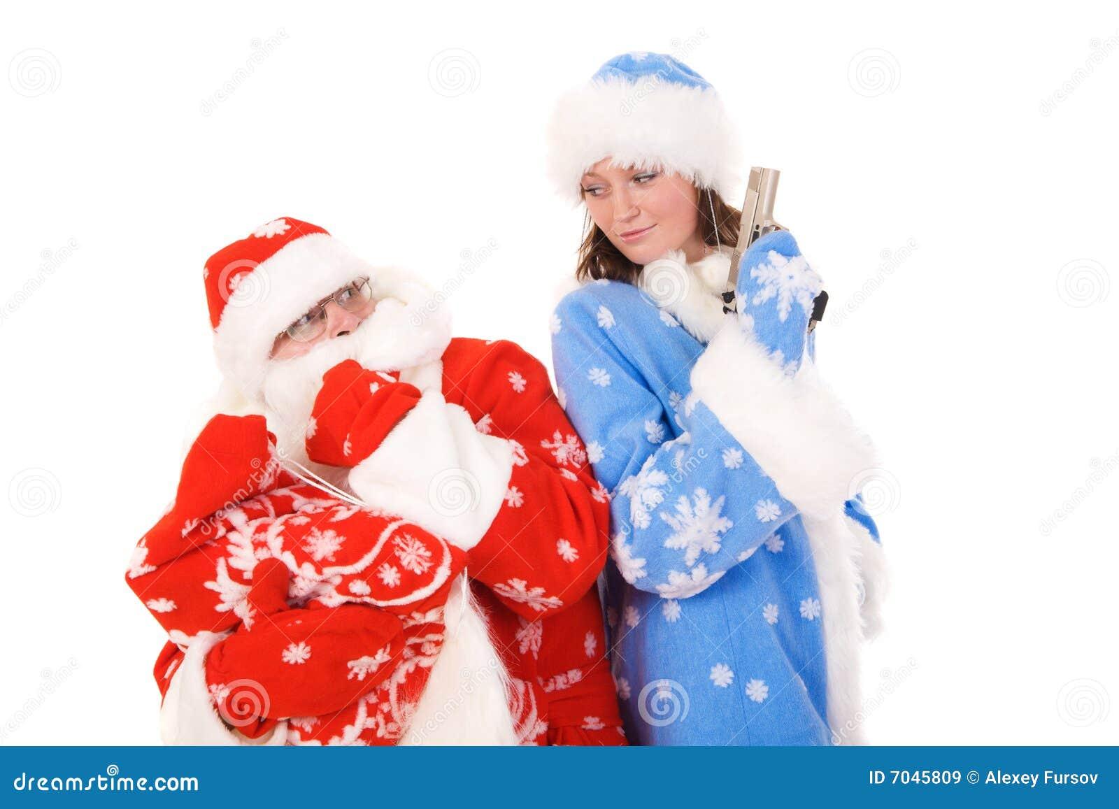 Dziewiczy Claus śnieg Santa