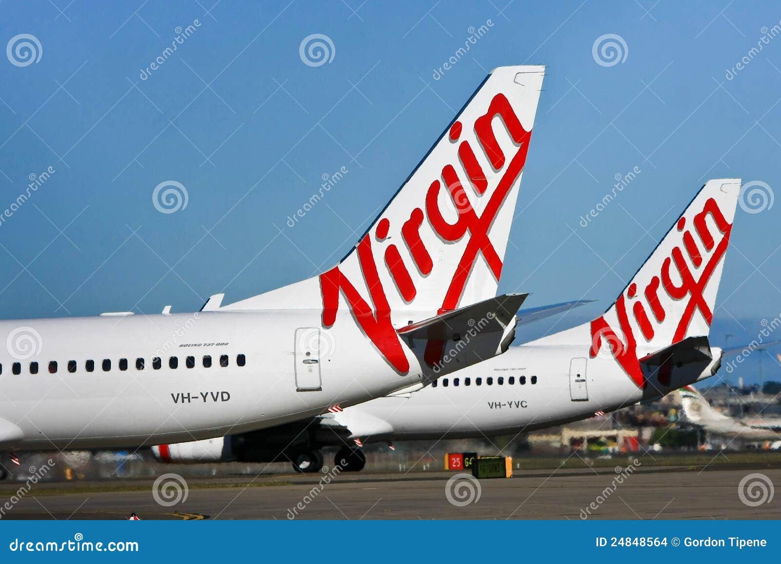Dziewiczy Linii lotniczych Australia samolotu logo