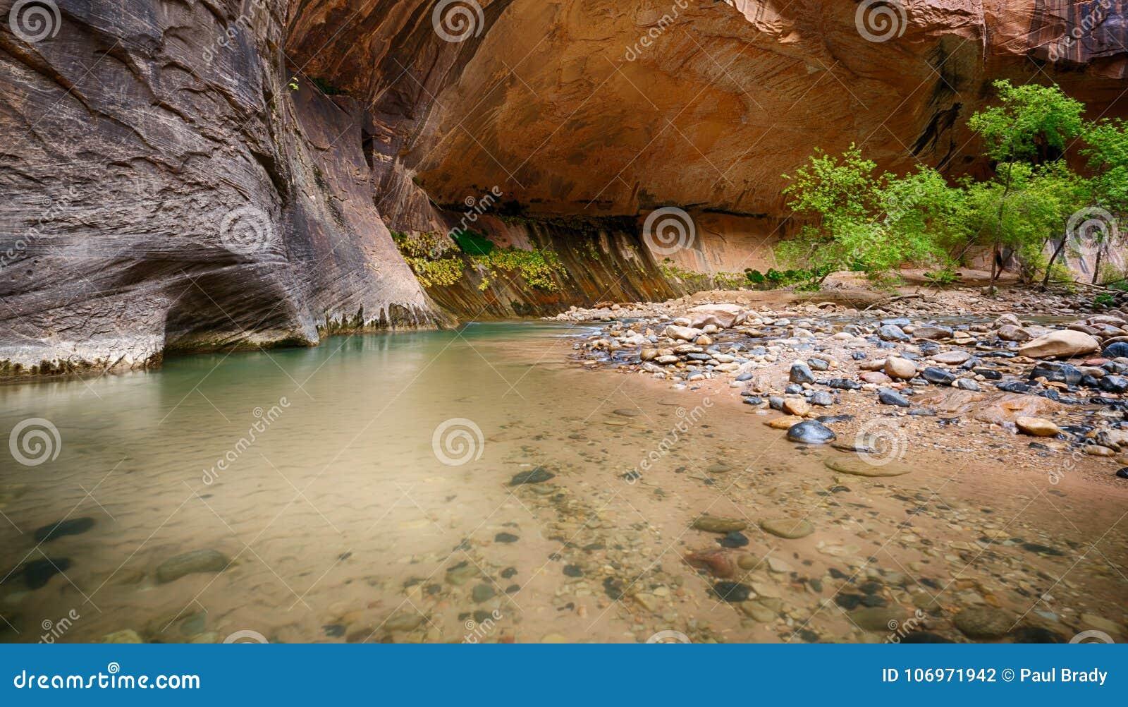 Dziewiczy rzeka przesmyki