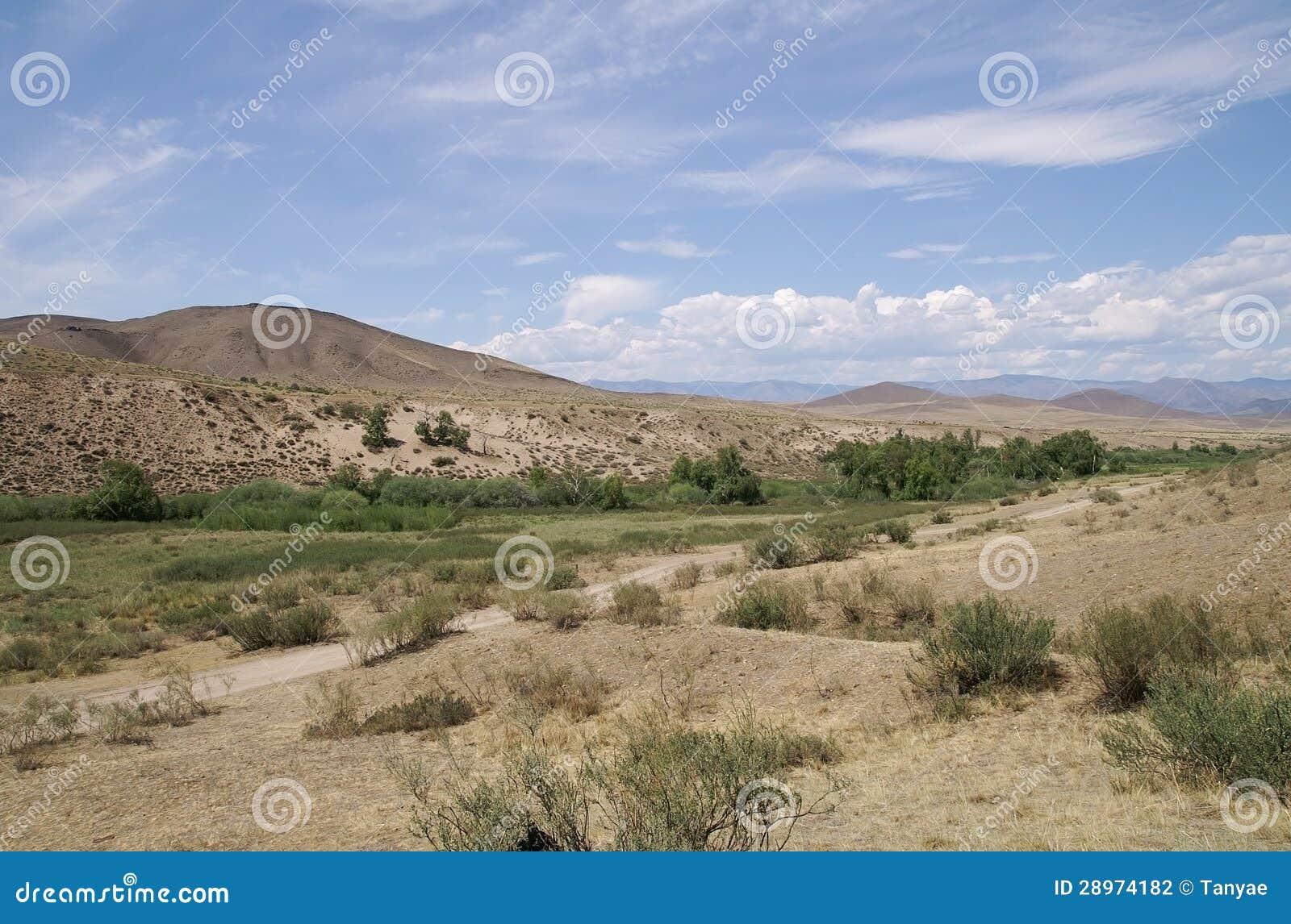 Dzika sceneria w Tuva górach
