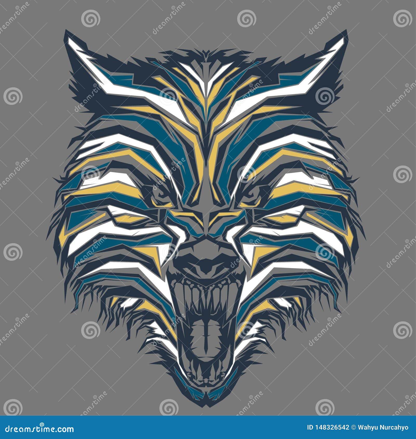Dziki wilk w wystrza? sztuce