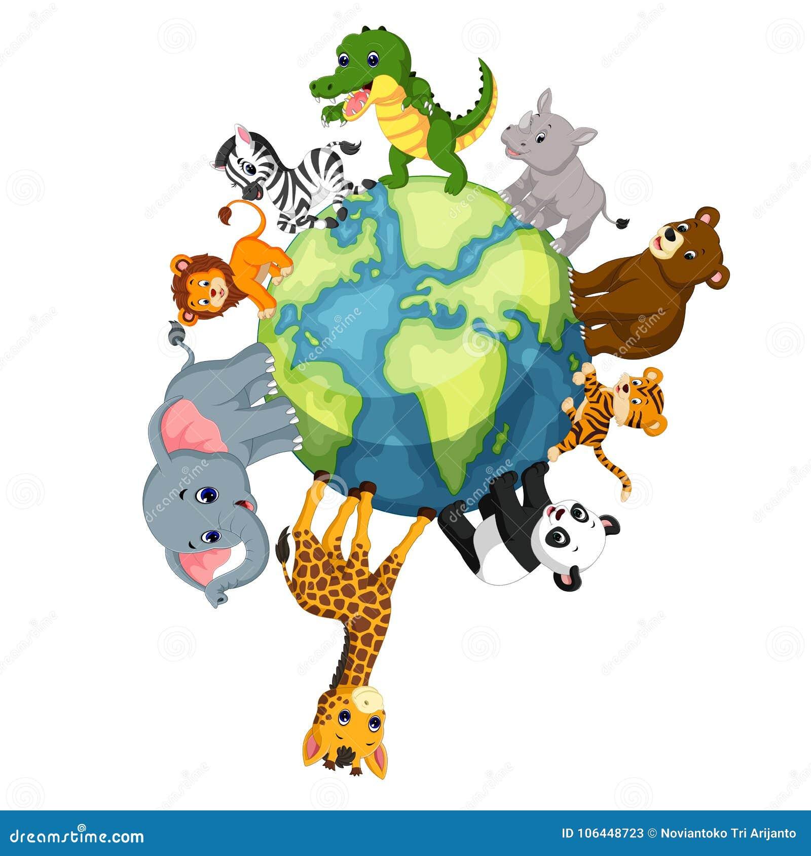 Znalezione obrazy dla zapytania: zwierzęta świata ilustracja