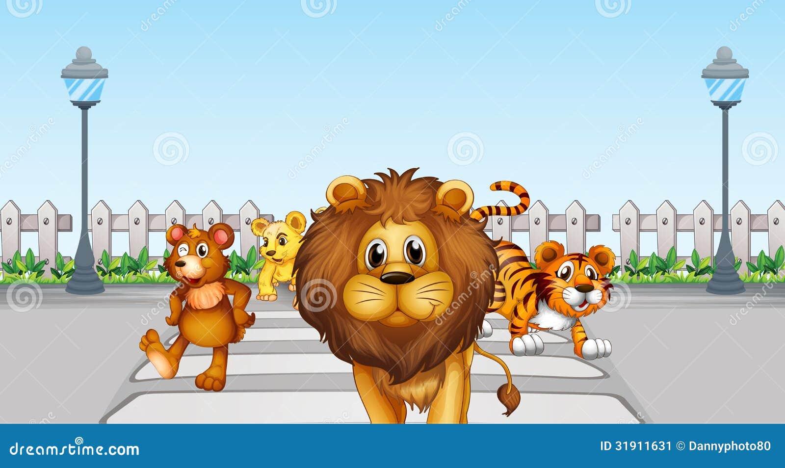 Dzikie zwierzęta w drodze