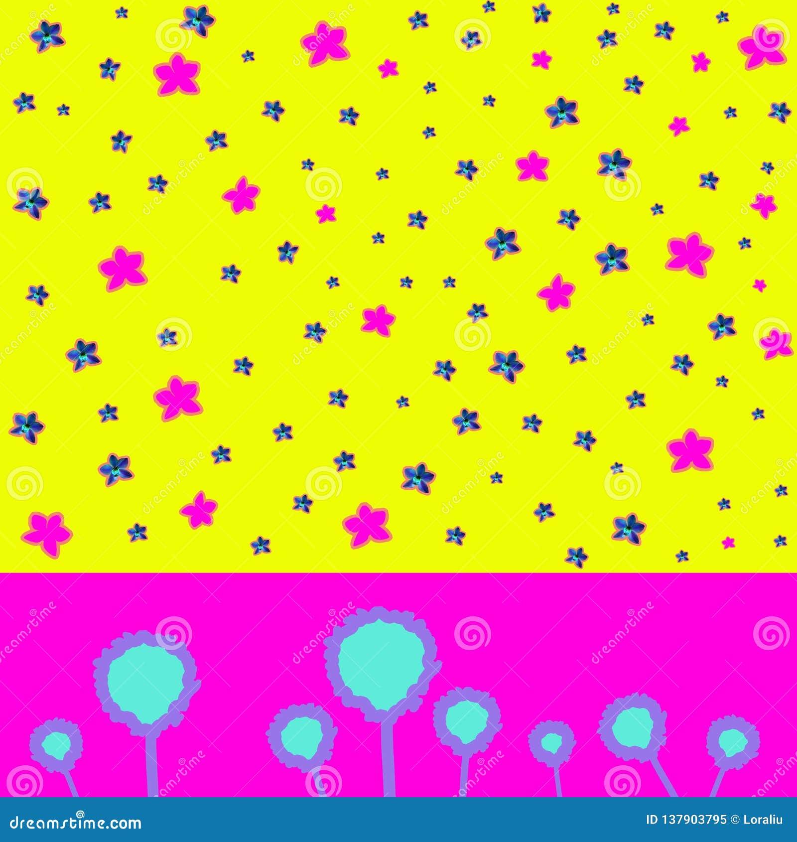 Dzisiejsza ustawa kolaż z piękną błękitną i różową orchideą na kolorowym abstrakcjonistycznym tle