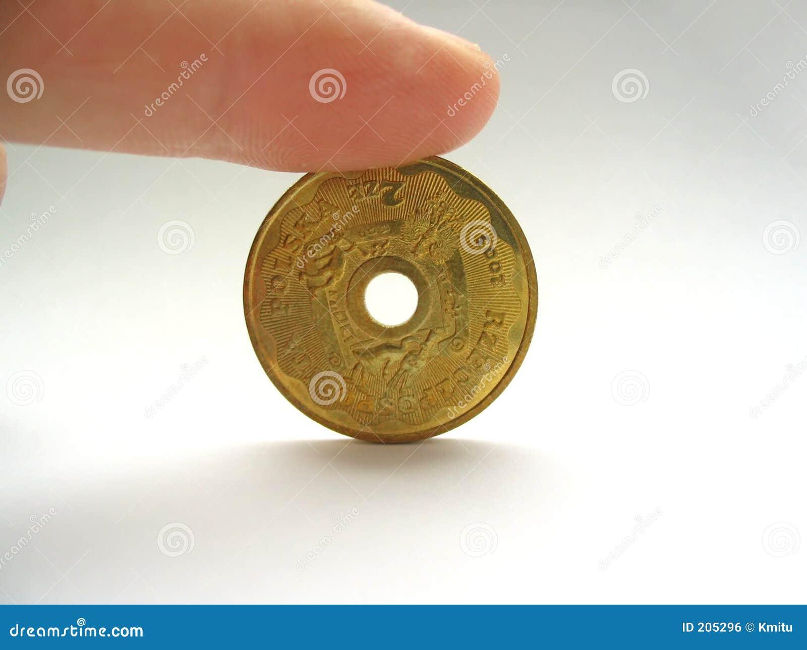 Dziurę w środku unikalny monet