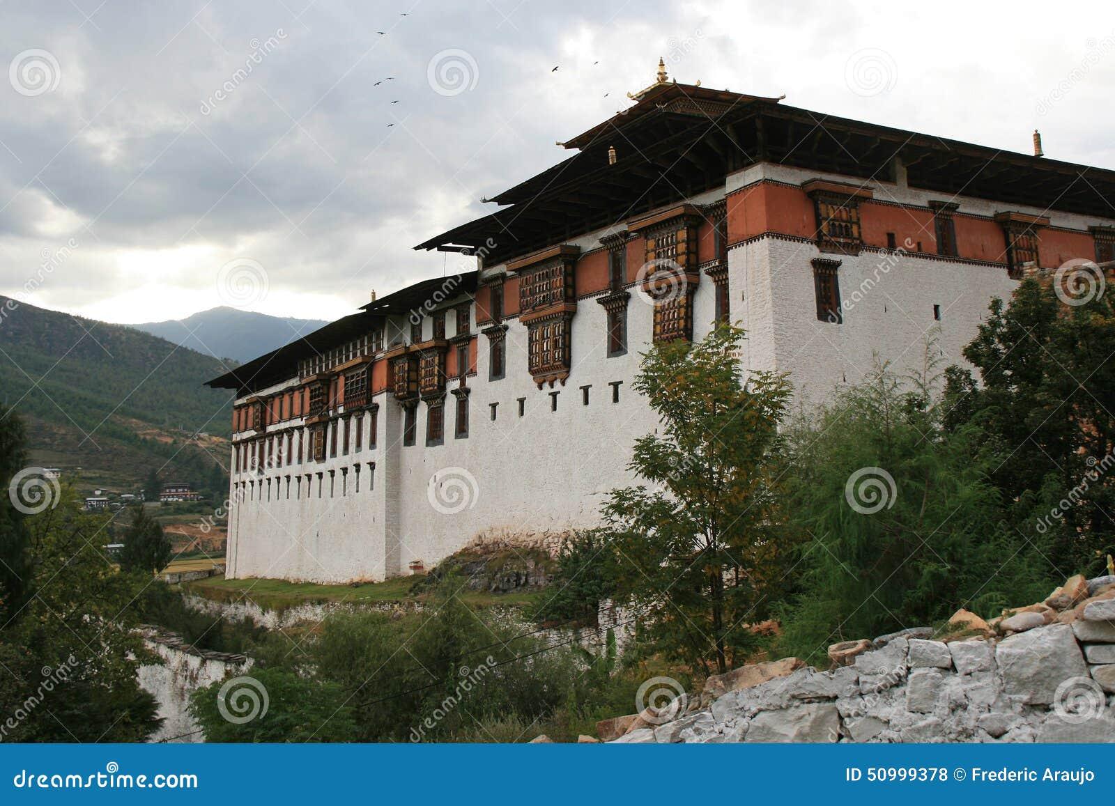 Dzong Paro, Бутана, было построено вверху холм