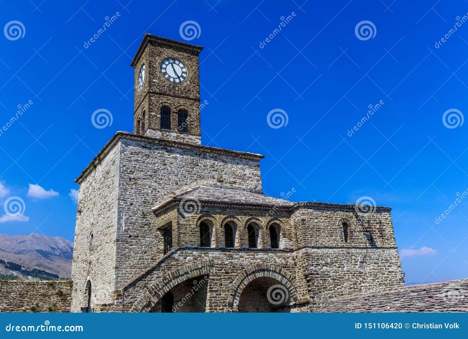 Dzwonkowy wierza kasztel Gjirokastra, Albania