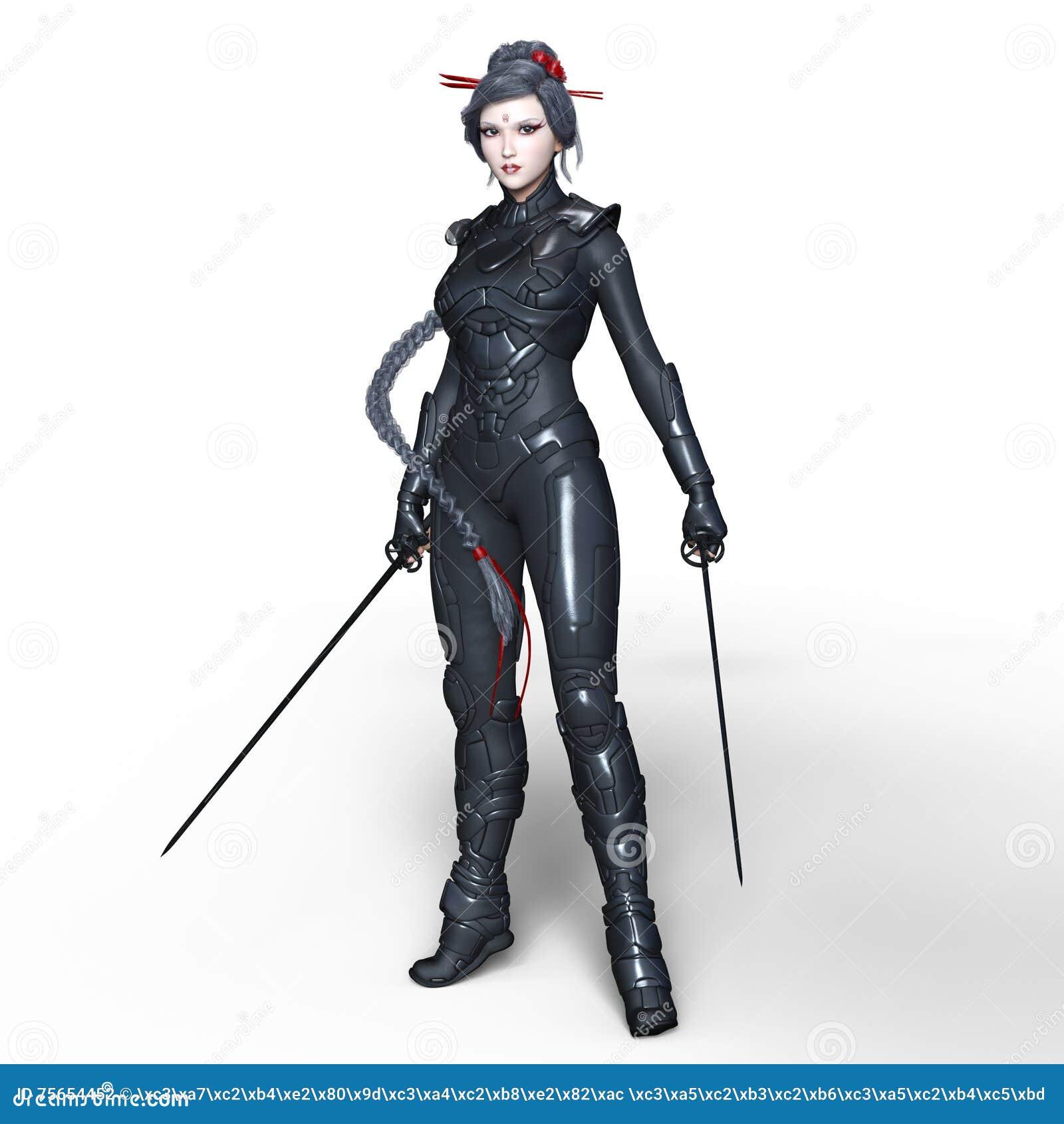 Żeński ninja