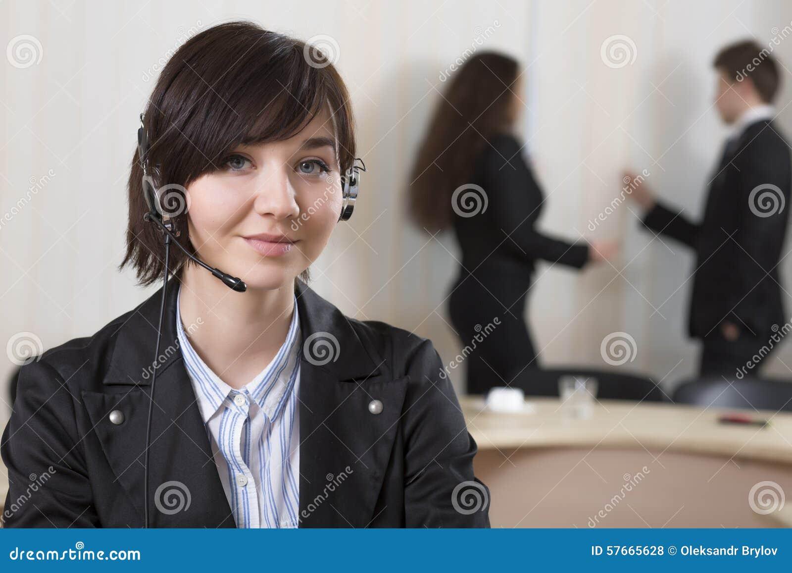 Żeński obsługa klienta oficer