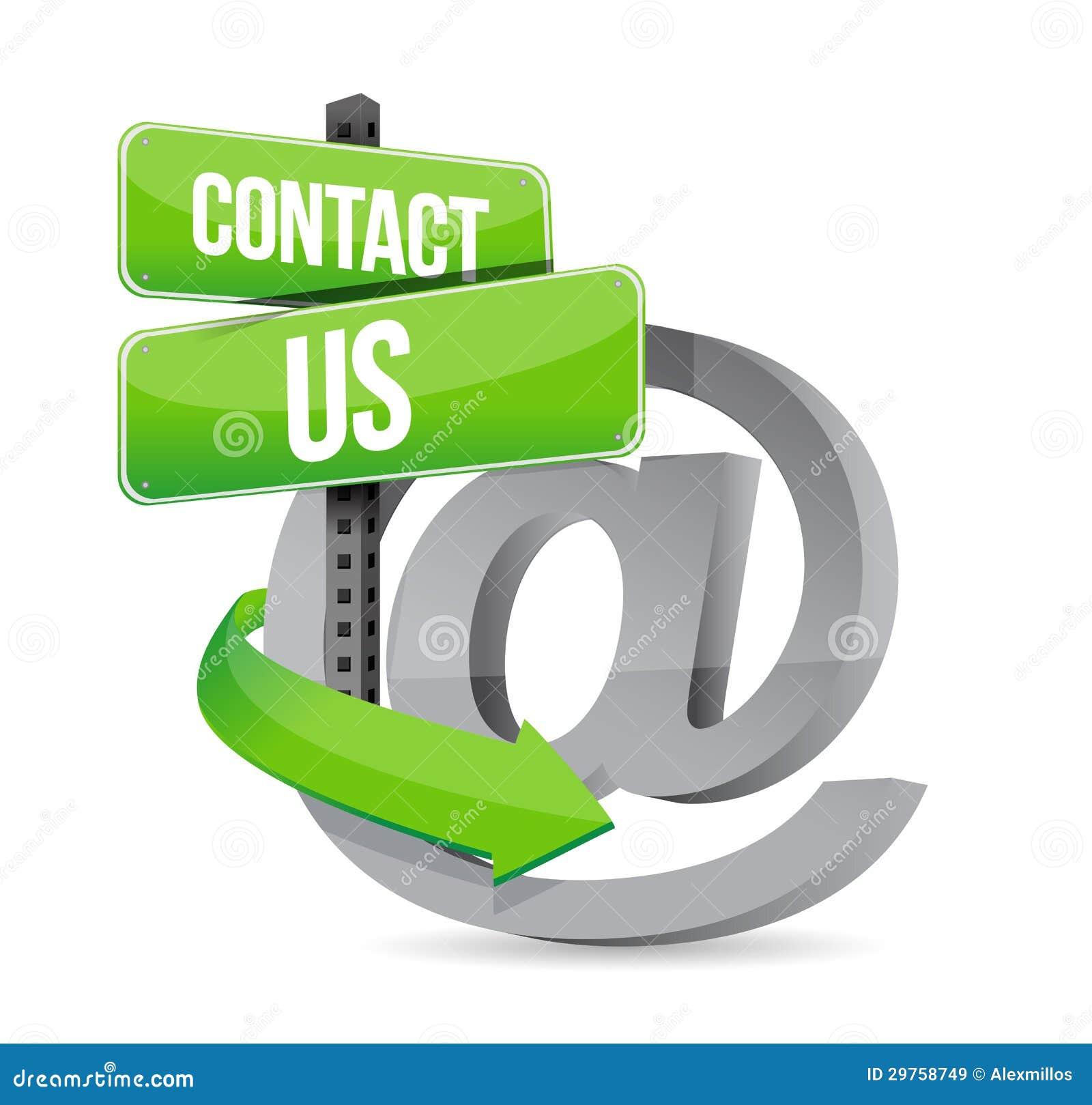 E邮件与我们联系在标志