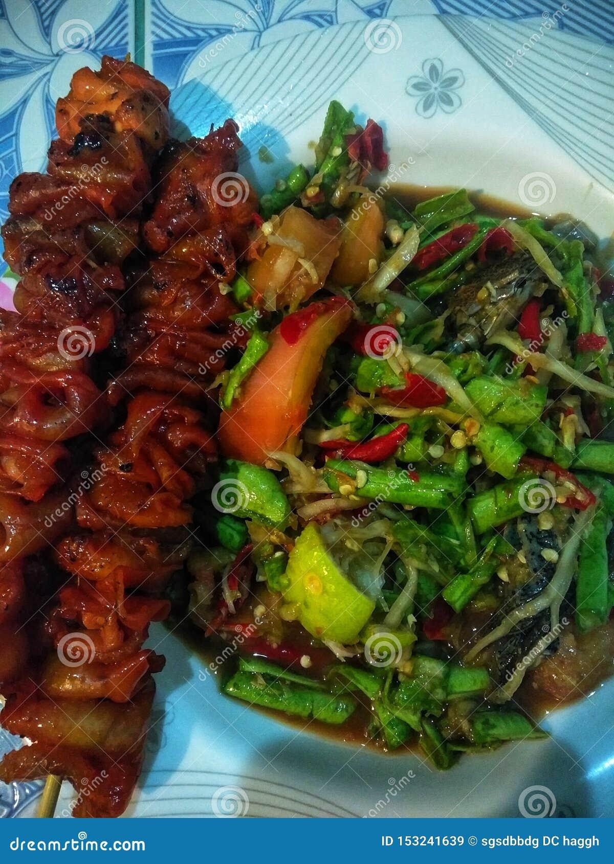 E食物,泰国Lans,面条,烤鸡,普吉岛
