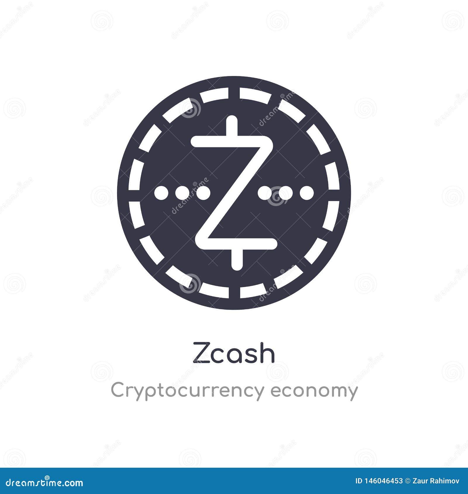 E изолированная иллюстрация вектора значка zcash от собрания экономики cryptocurrency editable спойте символ смогите быть пользой