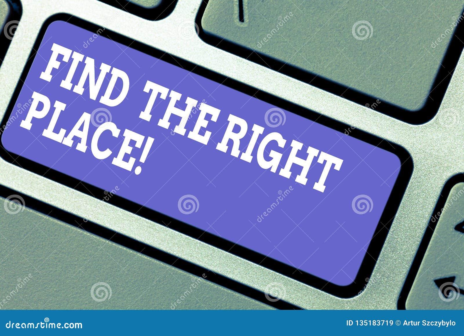 E Концепция дела для искать идеального места для того чтобы сделать что-то клавиатура