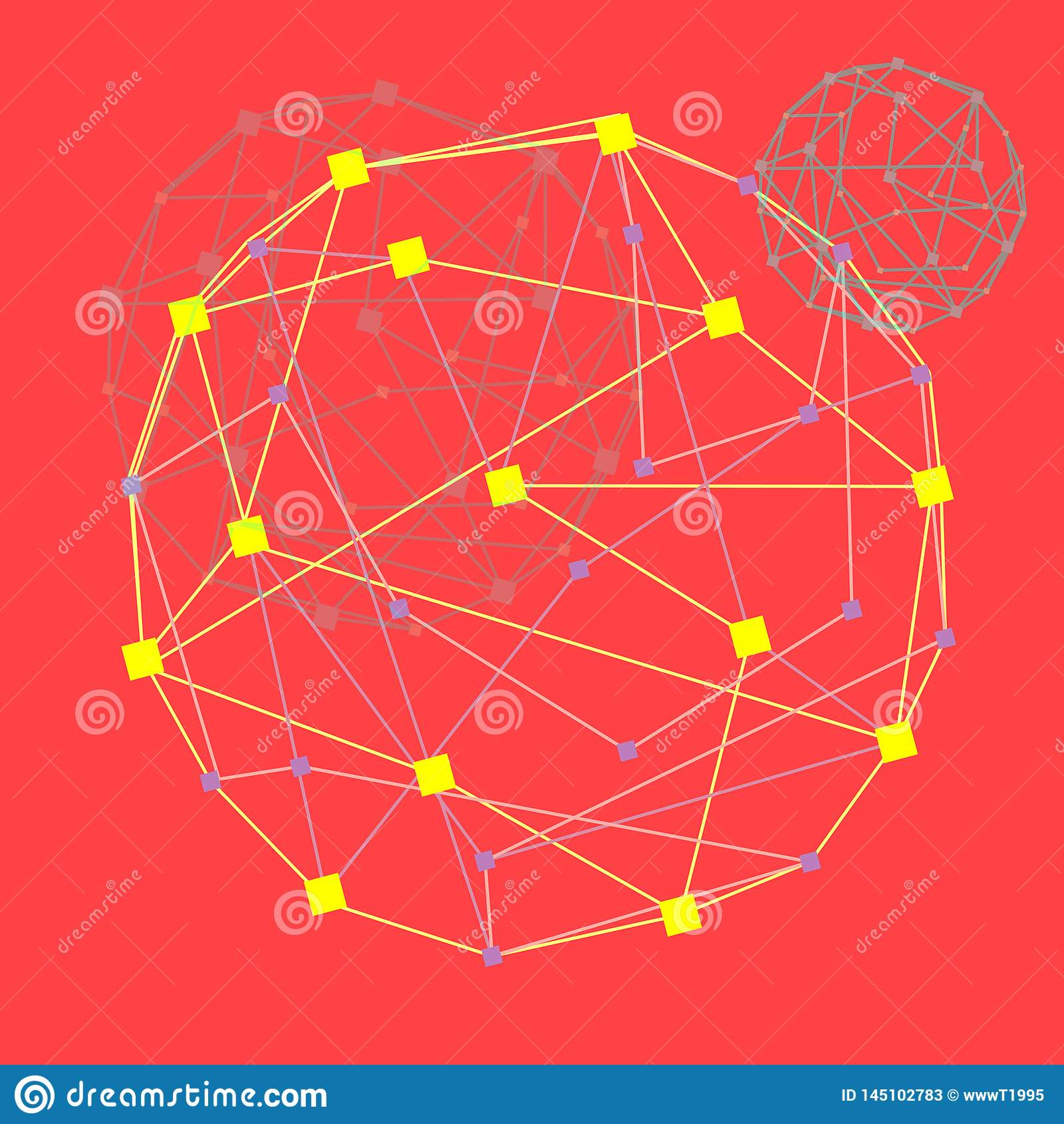 E Тоннель кибер круга цвета, футуристическая абстрактная предпосылка, иллюстрация вектора